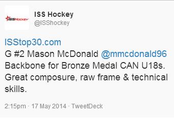 Mason McDonald scouting